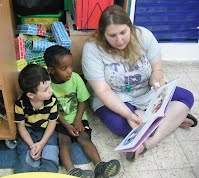 staff members like to read to the children