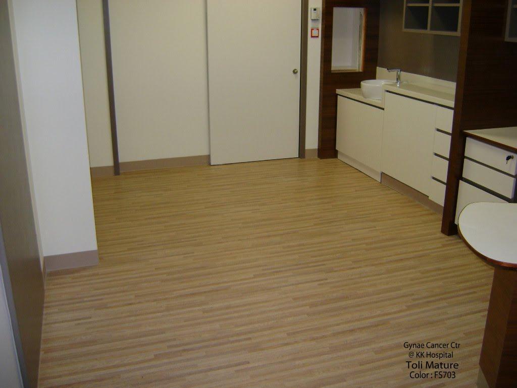 TOLI Mature Vinyl Sheet Flooring Gynae Cancer Ctr @ KK Hospital