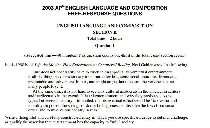 ap lang essay 2014 Ap® english language and composition 2015 free-response questions © 2015 the college board college board, advanced placement program, ap, ap central, and the acorn.