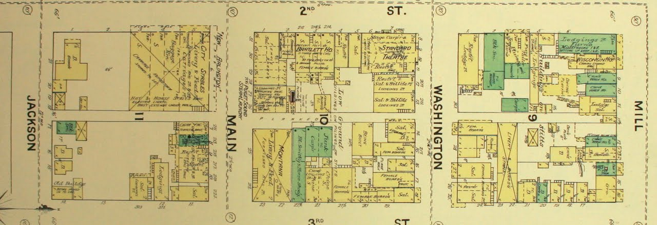Seattle Downtown Map Seattle downtown map 1888 & 1893   Ridgecrest Library