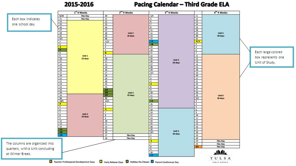 pacing calendar template for teachers - tps curriculum resources