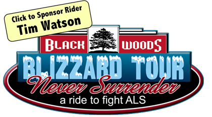 Sponsor Tim Watson in the 2019 ALS Black Woods Blizzard Tour