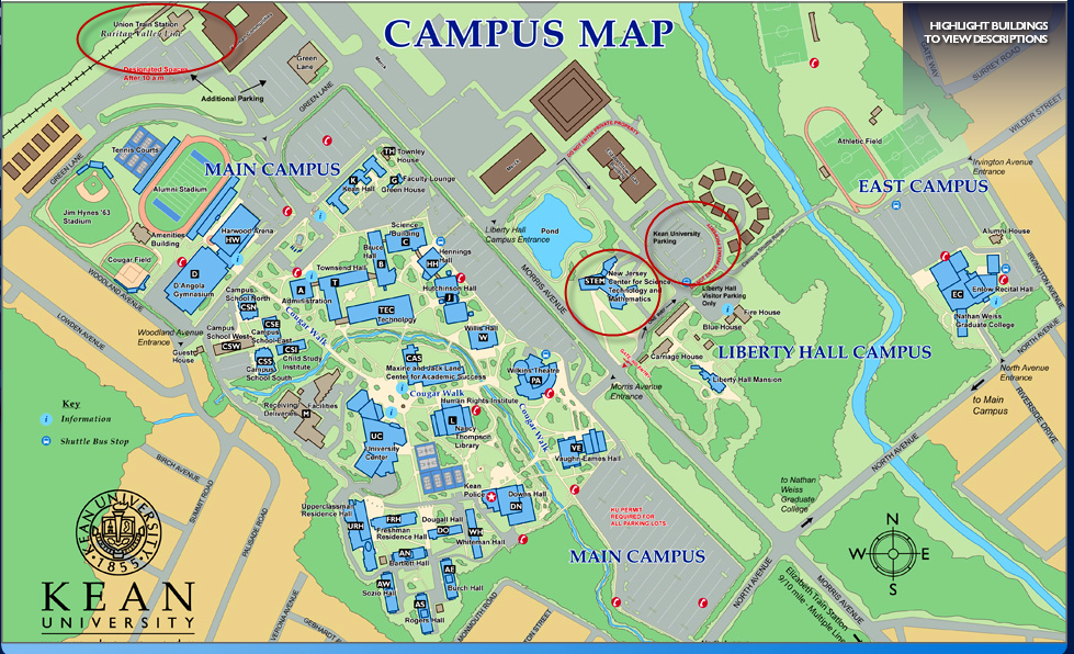 Location and Parking - Kean University / XSEDE Workshop on ... on keene campus map, jackson campus map, morgan campus map, franklin campus map, murray campus map, cabrini campus map, virginia wesleyan campus map, hunter campus map, mills campus map, university of cincinnati medical campus map, mass maritime campus map, malone campus map, baker campus map, fisher campus map, lane campus map, georgian court campus map, taylor campus map, henderson campus map, kennedy campus map, foster campus map,