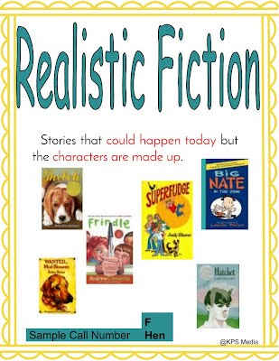 Realistic Fiction - Genre for KPS