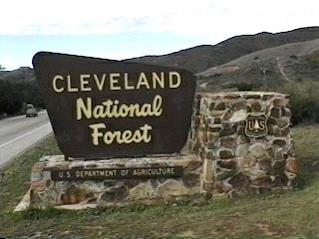 Cleveland National Forest sign