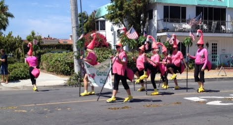Flamingos 4th of July 2014 Parade