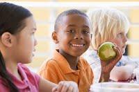 Kids Eating Healthy Fruit