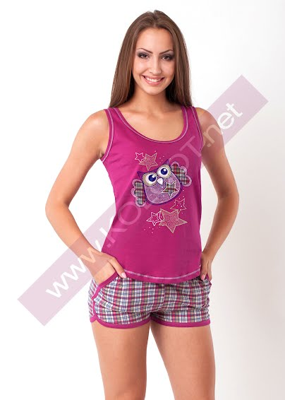 Одежда для дома и отдыха Домашний комплект майка + шорты Night Owl 02301ПВ- купить в Украине в магазине kolgot.net (фото 1)