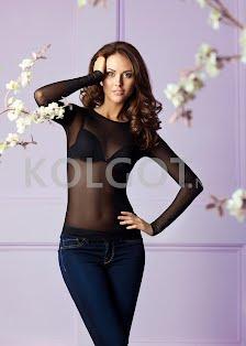 6291-4 джемпер женский сетка с круглым вырезом Anabel Arto - купить в интернет-магазине kolgot.net (фото 2)