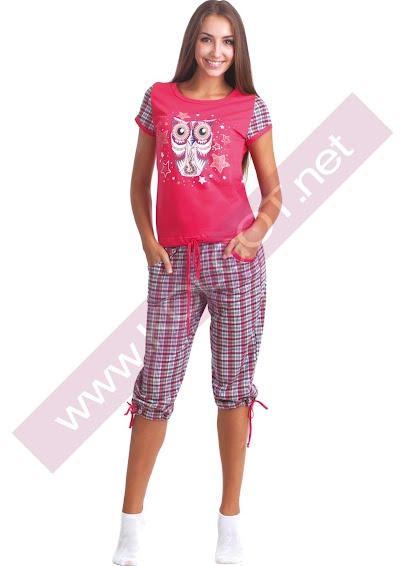 Одежда для дома и отдыха Домашний комплект жемпер + бриджи Night Owl 02304п- купить в Украине в магазине kolgot.net (фото 1)