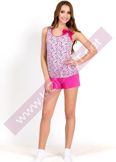 Одежда для дома и отдыха Домашний комплект майка + шорты Bright Bow 01312 <span style='color:#ff0000;'>Распродано</span>- купить в Украине в магазине kolgot.net (фото 1)