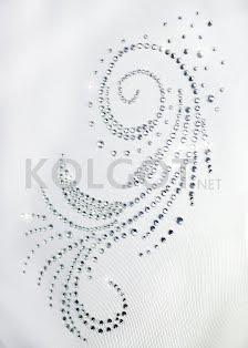 LUPETTO SMANICATO STRASS S-005 bianco - купить в интернет-магазине kolgot.net (фото 2)