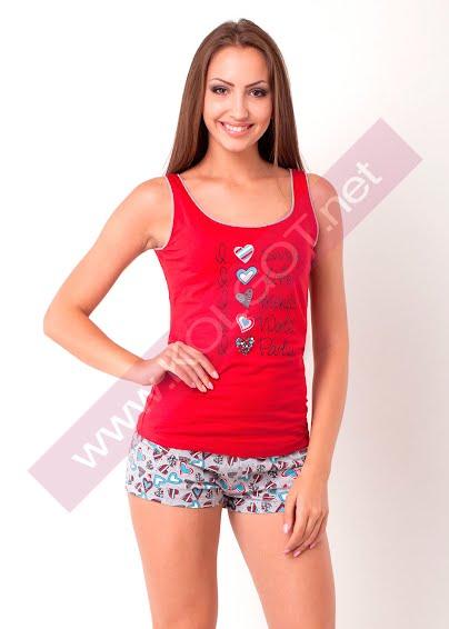 Одежда для дома и отдыха Домашний комплект майка + шорты Words 02107П- купить в Украине в магазине kolgot.net (фото 1)