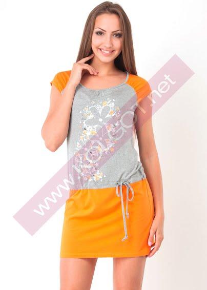 Одежда для дома и отдыха Домашнее платье Flower rain 5563П- купить в Украине в магазине kolgot.net (фото 1)