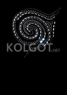 MAGLIA SCOLLO TONDO MANICA LUNGA STRASS S-002 - купить в интернет-магазине kolgot.net (фото 2)