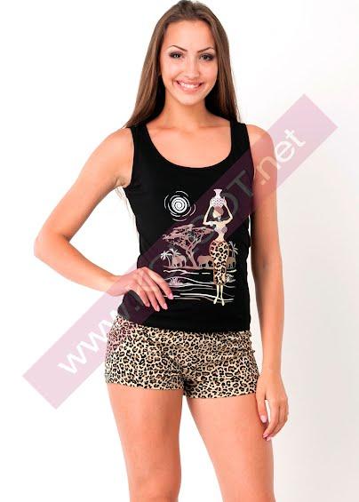 Одежда для дома и отдыха Домашний комплект майка + шорты Tiger 01602ПВ- купить в Украине в магазине kolgot.net (фото 1)
