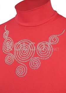 Купить LUPETTO SMANICATO STRASS S-001 ribbon red (фото 2)