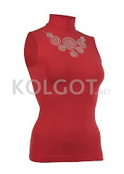Водолазки LUPETTO SMANICATO STRASS S-001 ribbon red                     - купить в Украине в магазине kolgot.net (фото 1)