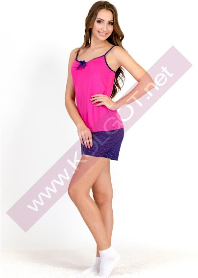 Одежда для дома и отдыха Домашний комплект майка + шорты Bright Color 01311 <span style='color:#ff0000;'>Распродано</span>- купить в Украине в магазине kolgot.net (фото 1)