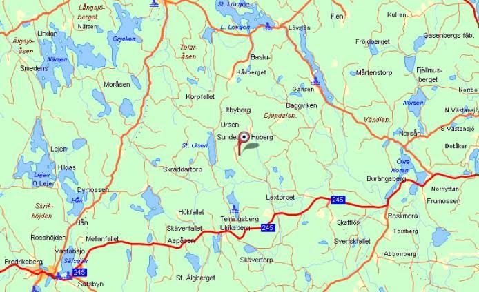 flen karta map   Kuntberget flen karta
