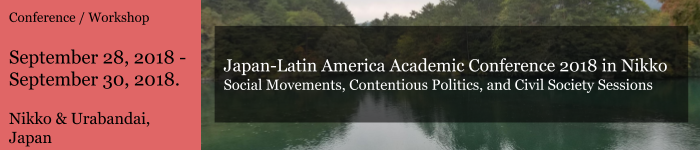 Social Movements, Contentious Politics, and Civil Society Sessions
