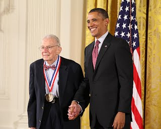 Dr. Rosenfeld accepts the National Medal of Technology from President Obama on February 1, 2013