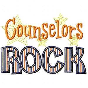 Clipart stating counselors rock