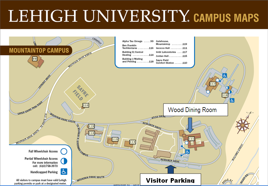Lehigh University Campus Map | Park Map