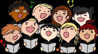 singing children clipart