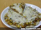 Corn Bhakhri Pizza