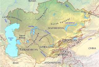 Map Of Asia Mountains.Time Zones Map Mountains Of Asia Map