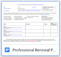 professional renewal form