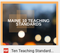 Maine's Ten Initial Teaching Standards