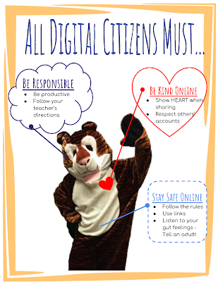 Responsible Citizens Poster: All Digital Citizens Must..