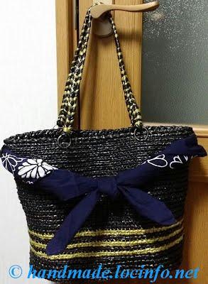 筋編みかごバッグ-1