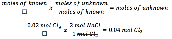how to find mole ratio of balanced equation