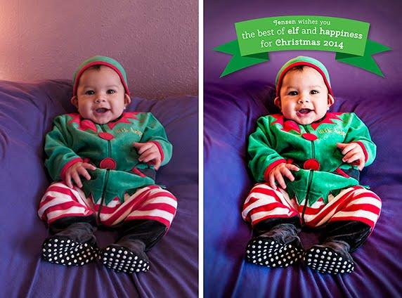 Christmas postcard elf
