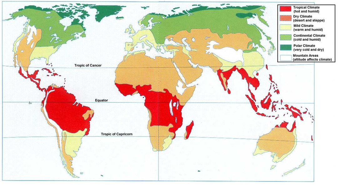World Climate Type Map - Science Rocks!