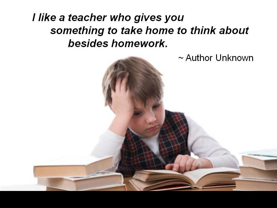 opinions on no homework