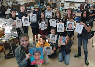 Art Club Memory Project Group Picture 2105