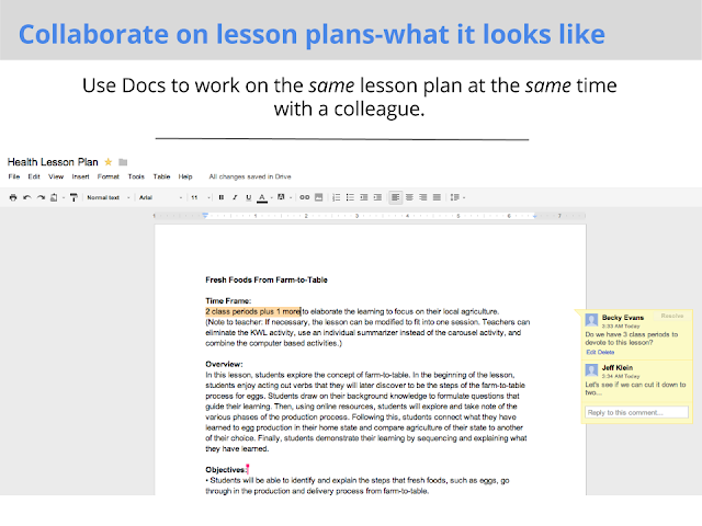 Collaborate on Lesson Plans