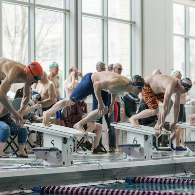 Macalester Master Chris Rupp beats the competition off the start at MN 2019 SCY State Championships