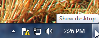 Show desktop bar