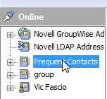 Choosing your Frequent Contacts address book