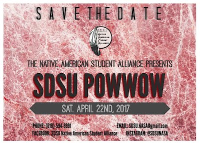 SDSU Pow Wow 2017 - Save the Date