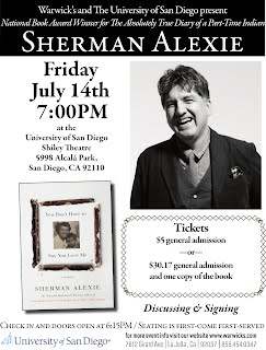 Sherman Alexie Lecture at USD July 14, 2017