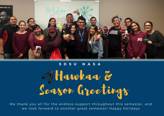 Hawkaa & Seasons Greetings from SDSU NASA!