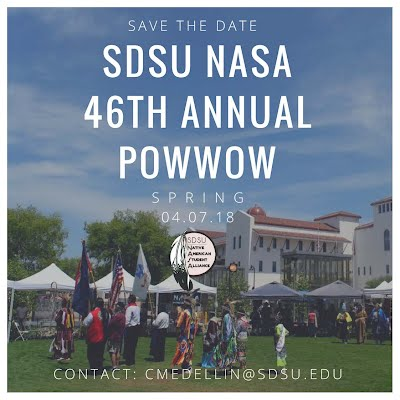 2018 SDSU Pow Wow - Save the Date - April 7, 2018