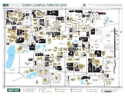 Usf Campus Map Parking at USF   English Graduate Student Association Spring  Usf Campus Map