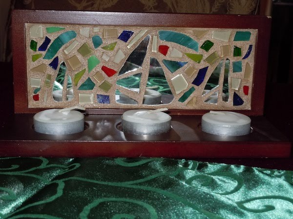 Lovely  I Saw Three Ships Christmas Mosaic Swap Gift for PIECEMAKERS